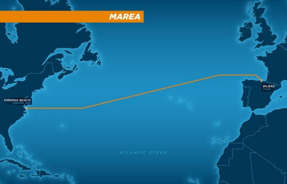 Un cable que atravesara todo el mar para unir dos continentes.