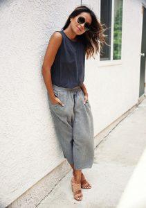 culottes, gris