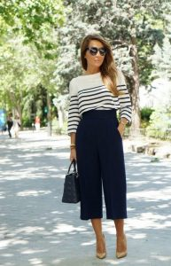 culottes, navy