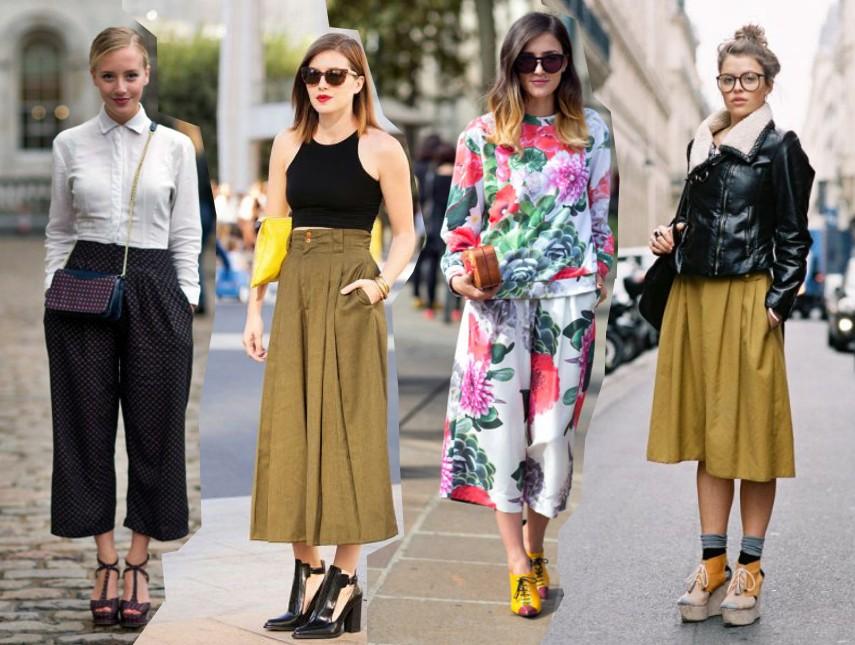 pantalones, culottes