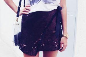 falda lentejuelas, look fiesta