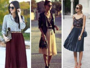 faldas, colores