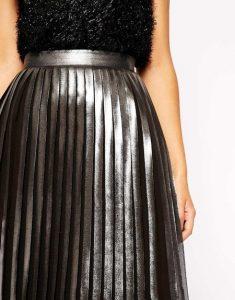 faldas, plateado