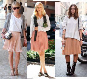 faldas, rosa