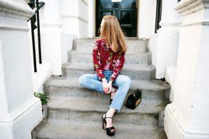 jeans, estampado floral