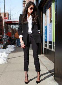 piezas negras, blazer