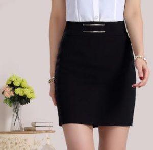 falda negra, piezas