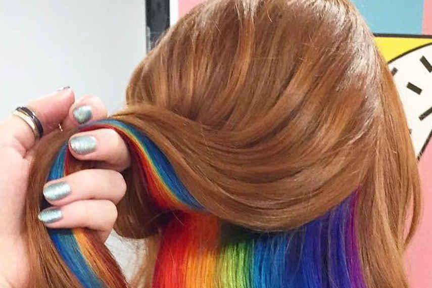 Arcoíris oculto, cabello, instagram