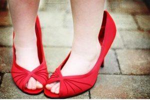 tacones, zapatos rojos, tallas