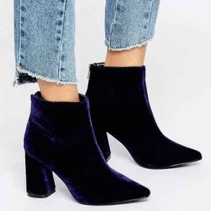 estilo minimalista, botas, terciopelo