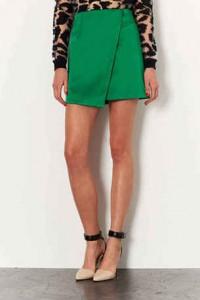 moda minimalista, wrap skirt, print leopardo