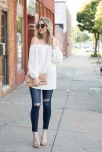 estilo minimalista, outfit, blusa hombros