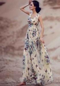 moda minimalista, maxi vestido, flores