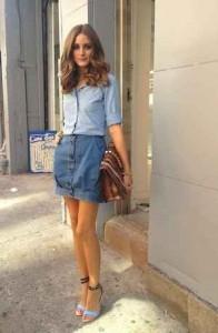 minimalismo, falda denim, mezclilla