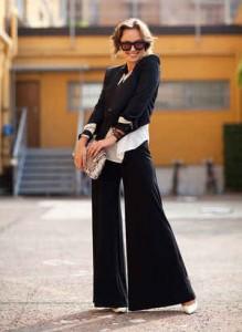 estilo minimalista, pantalón bota ancha