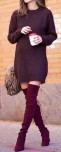estilo minimalista, suéter, vestido
