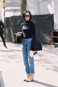 jeans, silueta ancha, bota recta