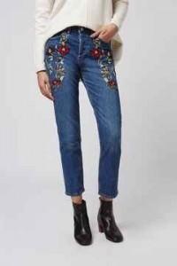 jeans, bordados, detalles