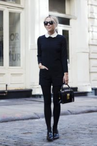 blanco & negro, look formal