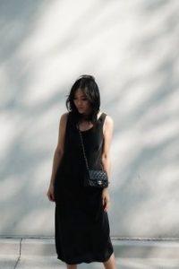 blanco & negro, vestido negro