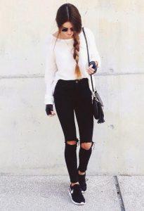 blanco & negro, look de día