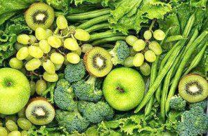 piel firme, frutas, verduras