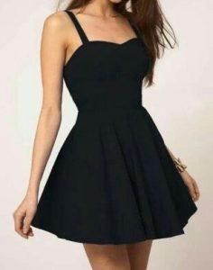 guardarropa, vestido negro