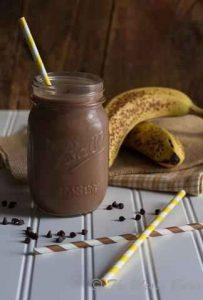 recetas de comida, banano, licuado de chocolate