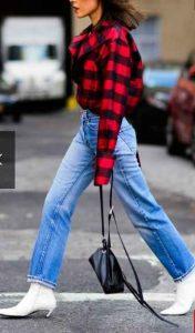 Nueva York, botas blancas, semana de la moda