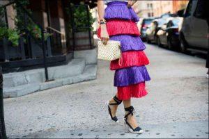 Nueva york, rojo, semana de la moda