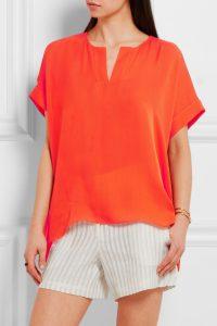 túnicas, naranja, blusa
