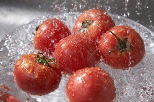bicarbonato de sodio, vegetales, frutas