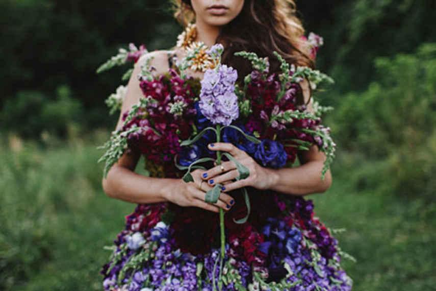vestido de flores, otoño