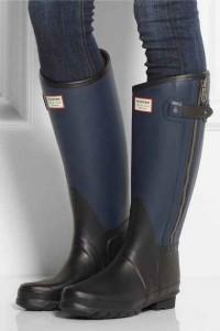 zapatos, botas de lluvia