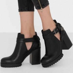 zapatos, botas de tacón
