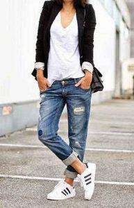 armario, otoño, boyfriend jeans