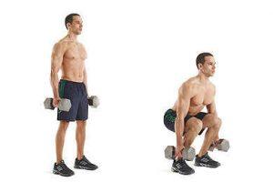 ejercicios, alta intensidad, sentadillas
