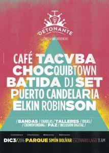 Festival Detonante 2016, Bogotá, Colombia
