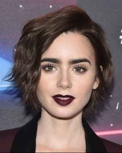 hair bob, Lilly Collins, peinados