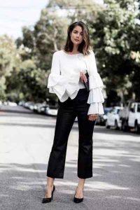 moda mujeres, moda 40, manga campana