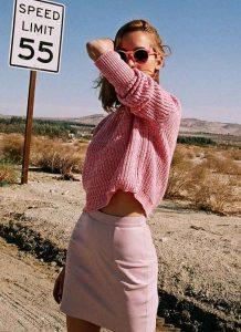 rosa, moda, mini falda