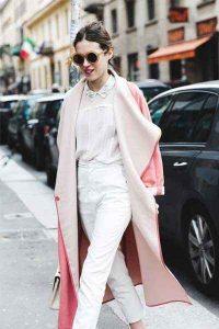 rosa, moda, abrigo