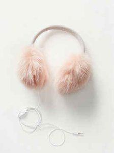 temporada invernal, audífonos rosa