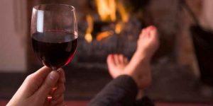 hechos científicos, tomar vino tinto