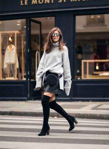 outfits noviembre, botas a la rodilla