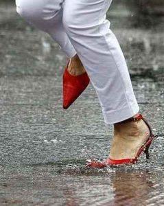 zapatos de cuero, tacones