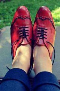 zapatos de cuero, cuero brillante