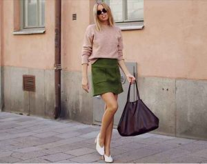 color verde, faldas