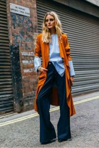 color naranja, outfit otoño