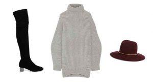 suéter grande, outfit para otoño